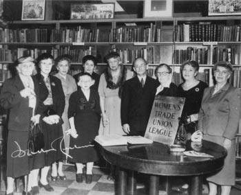Eleanor Roosevelt with fellow long-term members of the Women's Trade Union League; she was a member for over thirty years. (Wikipedia)