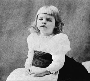 Eleanor Roosevelt as a young child. (mentalfloss.com)