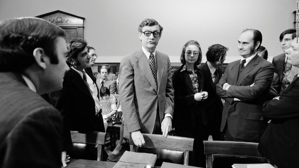 Hillary Rodham as a member of the House Judiciary Committee's Watergate staff. (CNN)