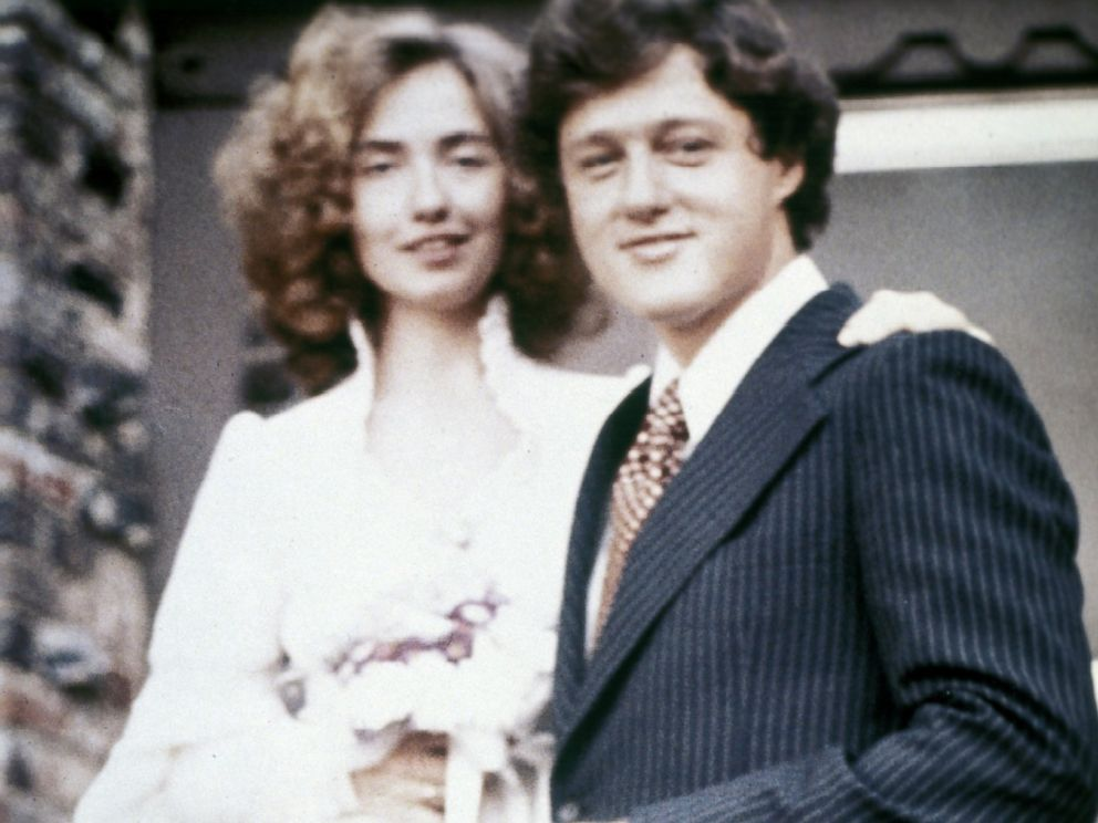 Bill and Hillary Clinton on their wedding day. (WJCPL)
