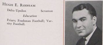 Hugh Rodham's 1935 Penn State yearbook entry. (onwardstate.com)
