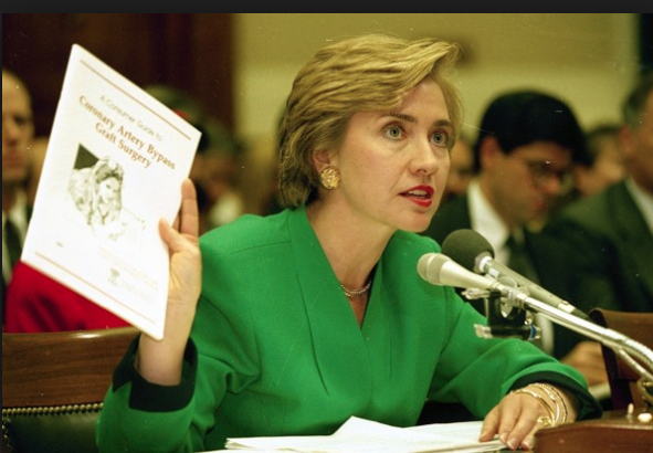 Hillary Clinton delivering 1993 congressional testimony on health care reform. (WJCLP)