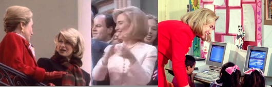 "From inviting Martha Stewart to decorate the holiday White House to doing a modulated version of the novelty dance ""Macarena"" to voicing delight and concern about the rapid societal changes brought by the cyber world, Hillary Clinton reflected aspects of the 1990s popular culture in the United States. (businessinsider.com, youtube, Getty)"