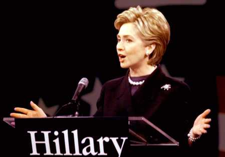 Hillary Clinton formally launched her Senate candidacy in February, 2000. (Getty)